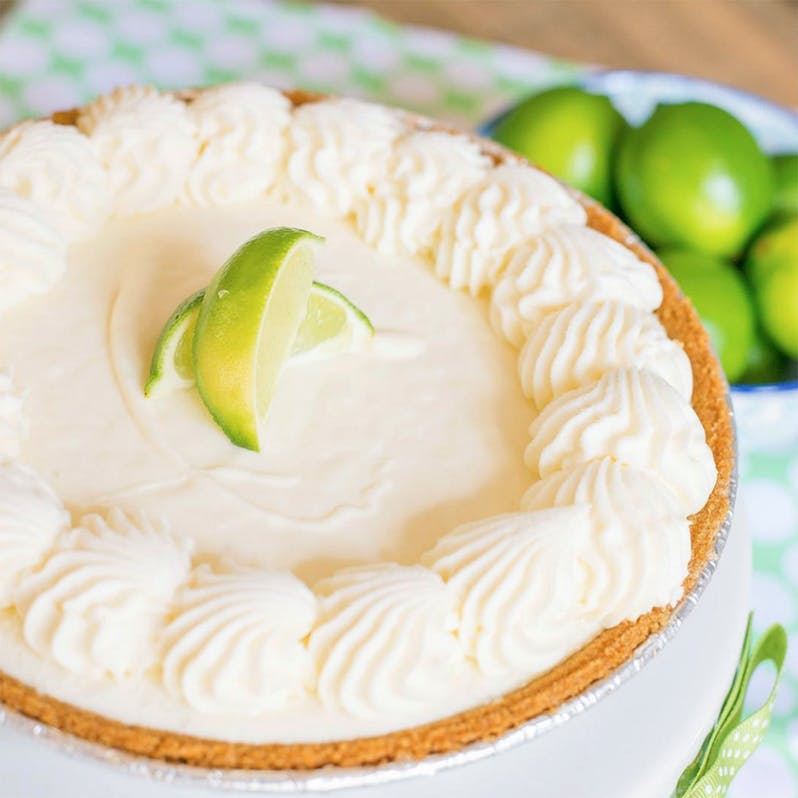 Picture of a mini key lime pie from the Key West Key Lime Pie company.